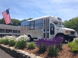 Our free shuttle bus takes you right to Craigville Beach